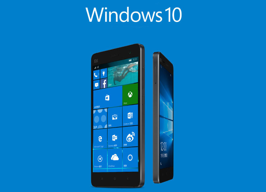 Xiaomi Mi4 in Windows Phone 10