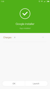 Google Installer nameščen