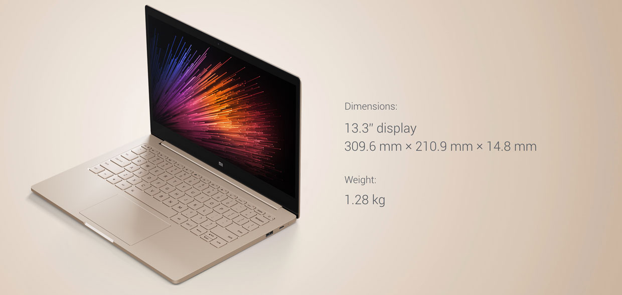 "Xiaomi Mi Notebook Air 13.3"" s težo 1.28 Kg"