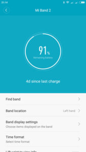 Mi Fit aplikacija in Profile zavihek