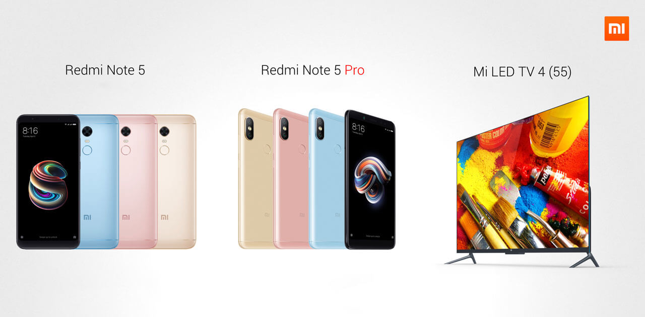 Xiaomi predstavil Redmi Note 5, 5 Pro ter Mi LED TV