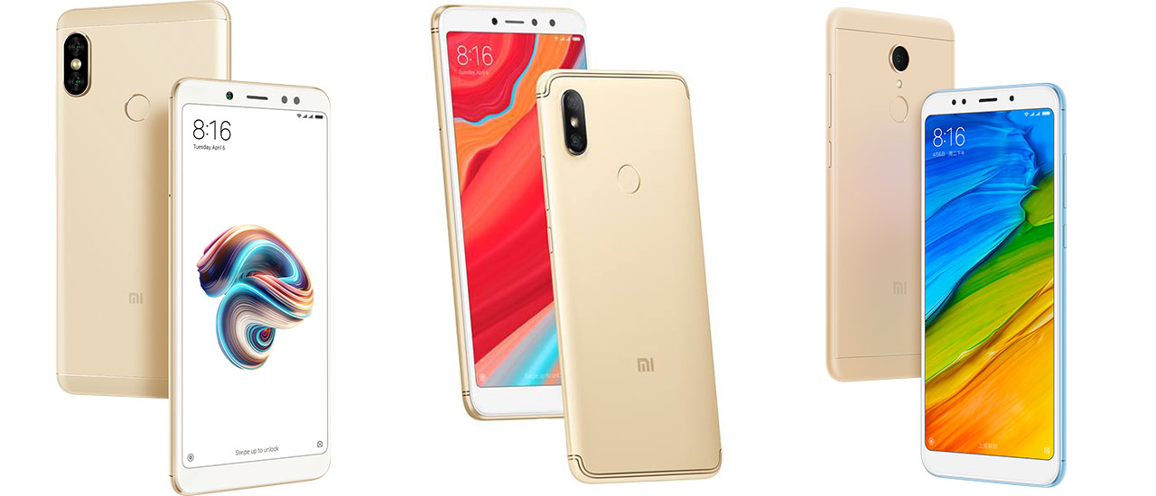 Xiaomi Redmi Note 5, Redmi S2 in Redmi 5 Plus