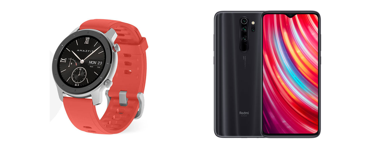 Amazfit GTR 42mm in Redmi Note 8 Pro